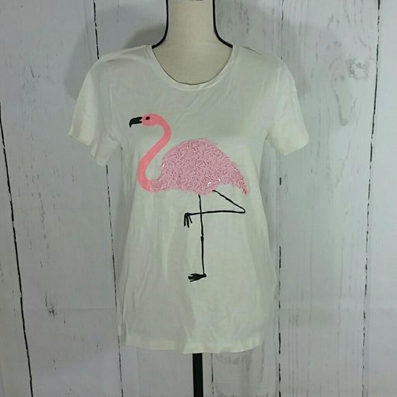 b9f082550 J. Crew Factory Tops | J Crew Factory Pink Flamingo Sequin Tee ...
